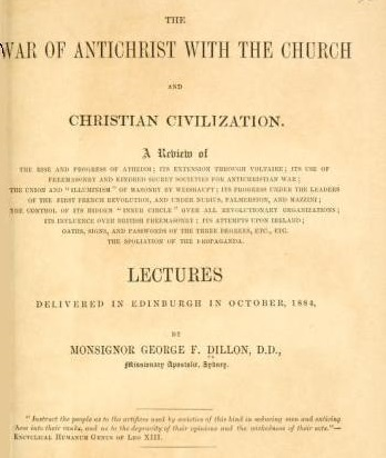 [Title Page] from War of the Antichrist by Rev. G. E. Dillon