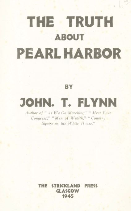 [Book Cover] from The Truth about Pearl Harbor by John T. Flynn