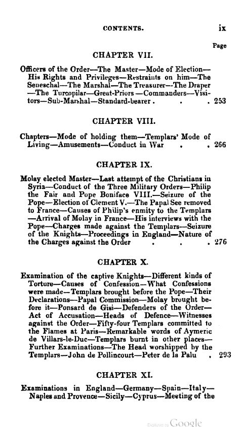[Contents 5 of 7] from Secret Societies of the Middle Ages by Thomas Keightly