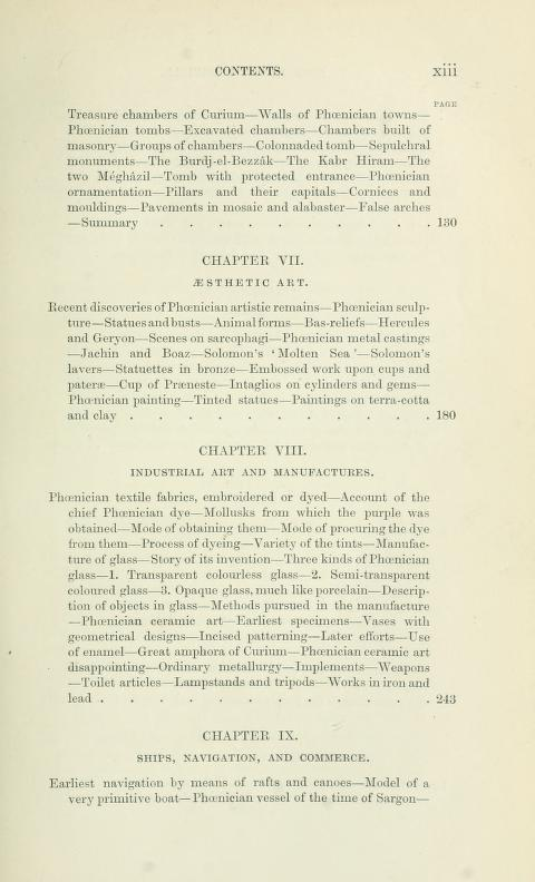[Contents, Page 3 of 7] from History of Phoenicia by George Rawlinson